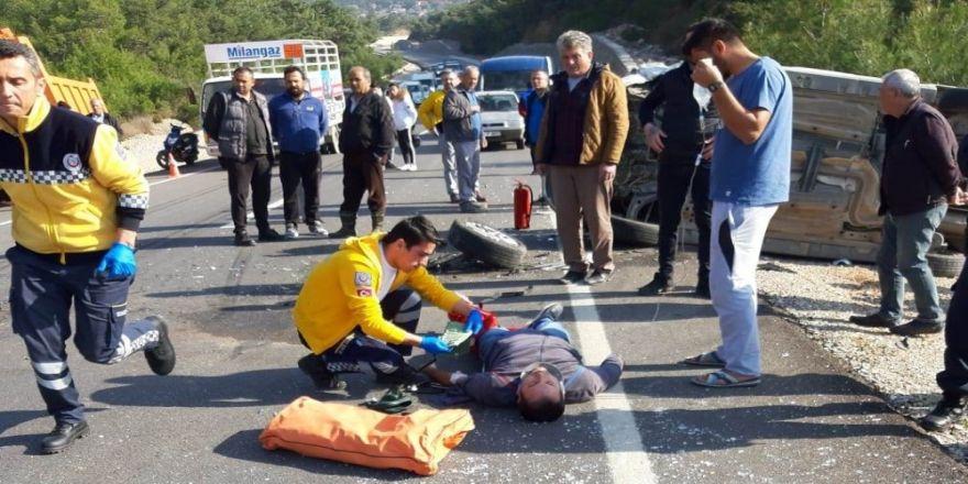 Datça'da trafik kazası: 4 yaralı