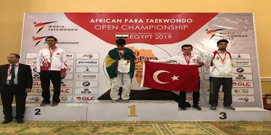 Karabüklü sporcu Afrika Para Taekwondo Şampiyonası'ndan bronz madalya ile döndü