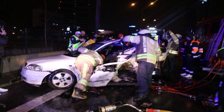 D100'de 11 araç birbirine girdi: 1 ölü, 4 yaralı