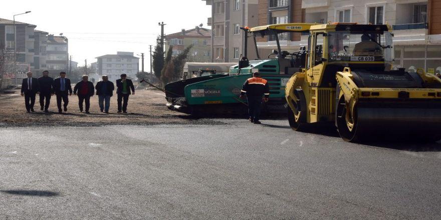 Çorlu'da asfalt çalışmaları