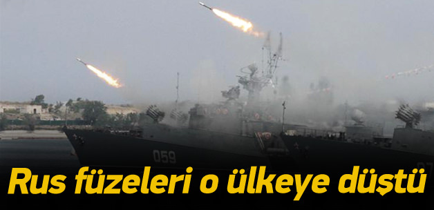 Rus füzeleri o ülkeye düştü!