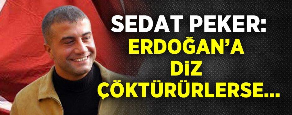 Sedat Peker: Erdoğan'a diz çöktürürlerse...