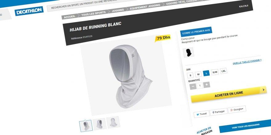 Fransa'da ırkçı tepkiler nedeniyle spor mağazası başörtüsü satışını iptal etti