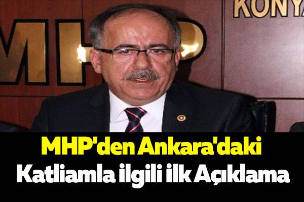 MHP'den Ankara'daki Katliamla İlgili İlk Açıklama: Üzüntü Verici