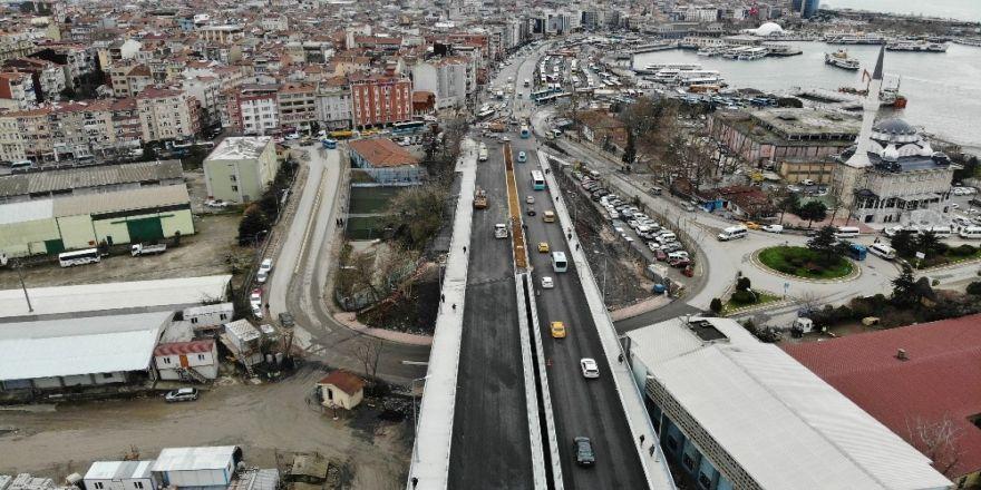 Bir Bölümü Trafiğe Açılan Haydarpaşa Köprüsü Havadan Görüntülendi