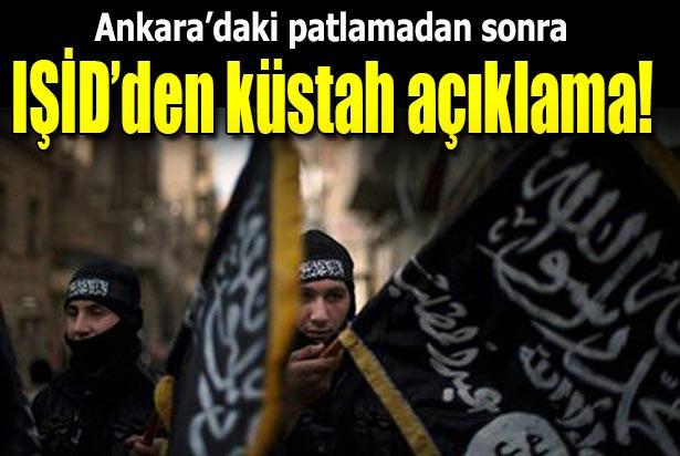 IŞİD'DEN ANKARA SALDIRISIYLA İLGİLİ KÜSTAH PAYLAŞIM !
