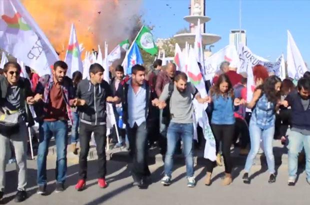 """Ankara'daki patlamadan sonra polis alana böyle girdi... """"VURMAYIN YARALI VAR"""""""