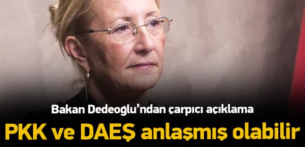 Bakan Dedeoğlu: DAEŞ-PKK anlaşmış olabilirler!