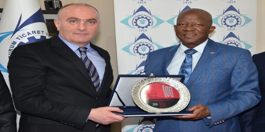 Güney Afrika Büyükelçisi Malefane'den Etso'ya Ziyaret