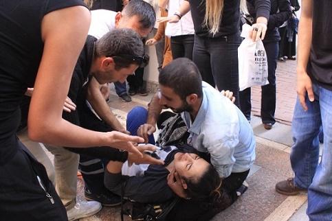 Kocaeli'ndeki Ankara protestosunda gerginlik!