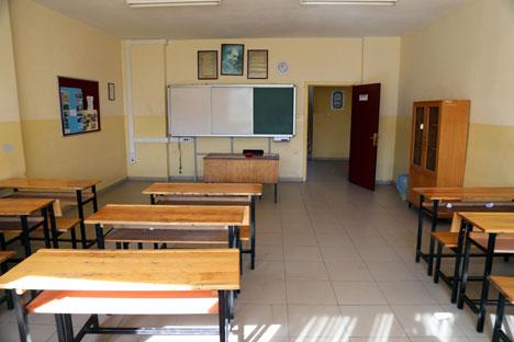 Sınıflar boş kaldı
