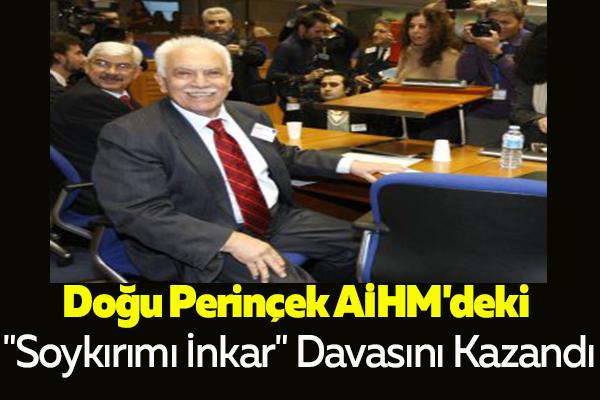 """Doğu Perinçek AİHM'deki """"Soykırımı İnkar"""" Davasını Kazandı"""