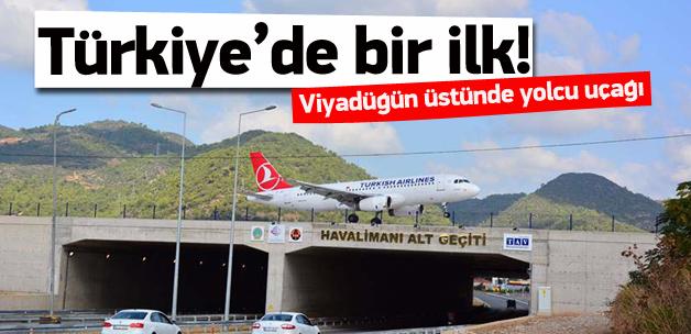Türkiye'de bir ilk,Viyadüğün Üstünde Yolcu Uçağı
