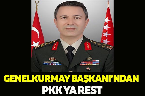 TSK'NIN BİR NUMARASINDAN PKK'YA REST