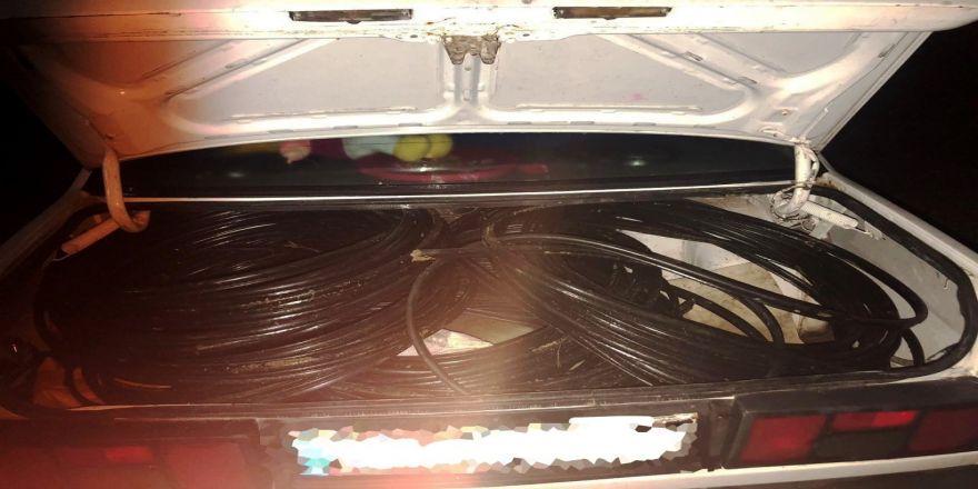 Çaldığı Kabloları Bagajda Taşırken Yakalandı