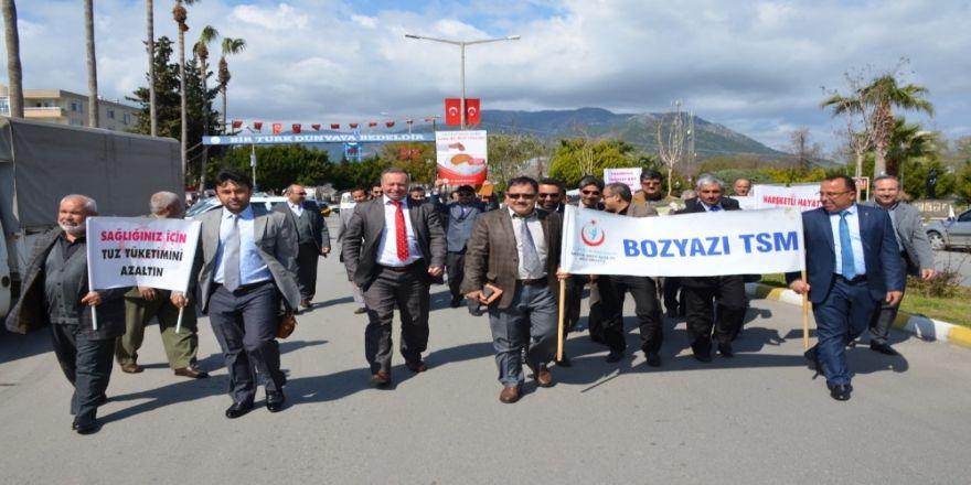 Bozyazı'da Sağlıklı Yaşam Yürüyüşü