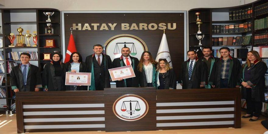 Hatay Barosu'na 2 Yeni Avukat Daha Katıldı