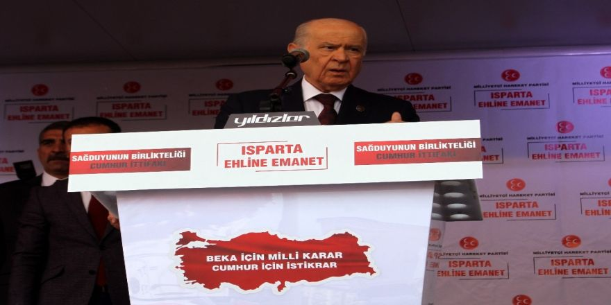 """Mhp Lideri Devlet Bahçeli: """"Türkiye'nin Karşısında Puslu Bir İttifak Kurulmuştur"""""""