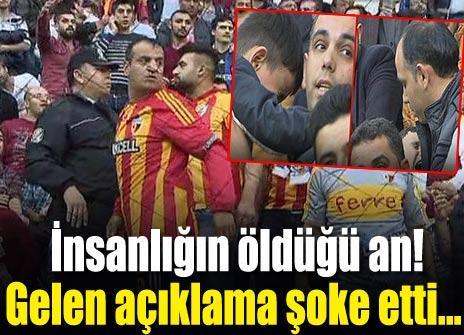 Kayserispor-Fenerbahçe maçında insanlığın öldüğü an!