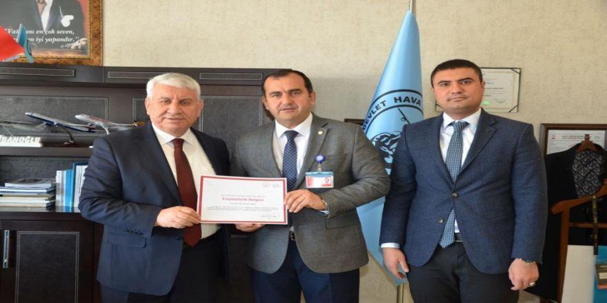 Van Ferit Melen Havalimanı Müdürlüğüne 'Erişilebilirlik' Belgesi