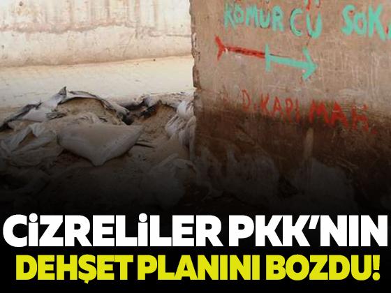 Vatansever Cizreliler PKK'nın dehşet planını bozdu