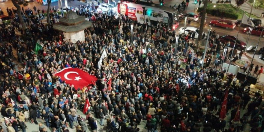 Cumhur İttifakı'ndan Nazilli'de 3. 'Yüreğini Koy' Yürüyüşü