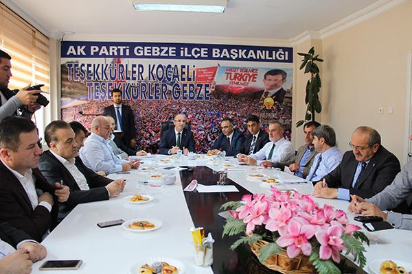 Başbakan Gebze'ye teşekkür etti