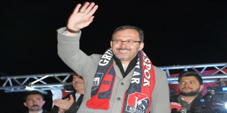 """Spor Bakanı Kasapoğlu: """"31 Mart'ta Türk Ve İslam Düşmanlarına En Güzel Dersi Vereceğiz"""""""