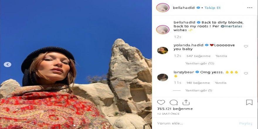 Türk Güneşiyle Aydınlatılmış Bella Hadid'e Binlerce Beğeni Yağdı