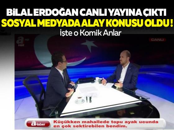 Bilal Erdoğan canlı yayına çıktı, sosyal medyada alay konusu oldu