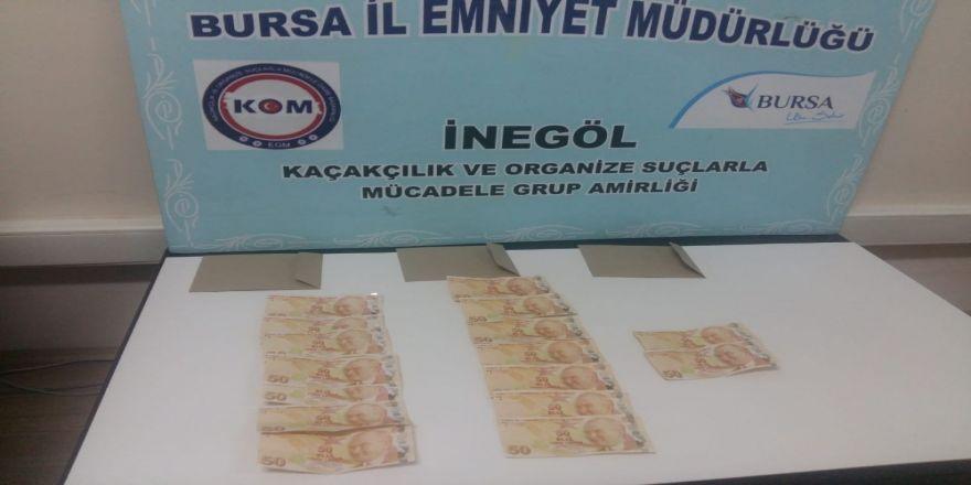 İnegöl'de Sahte Para Operasyonu 3 Kişi Cezaevini Boyladı