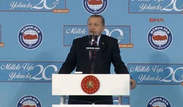 Erdoğan'ın Memur-Sen toplantısı konuşması