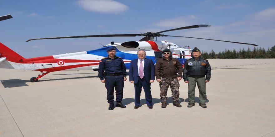 Afyonkarahisar'da Helikopter Destekli Trafik Denetimi