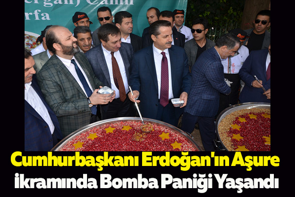 Cumhurbaşkanı Erdoğan'ın Aşure İkramında Bomba Paniği Yaşandı