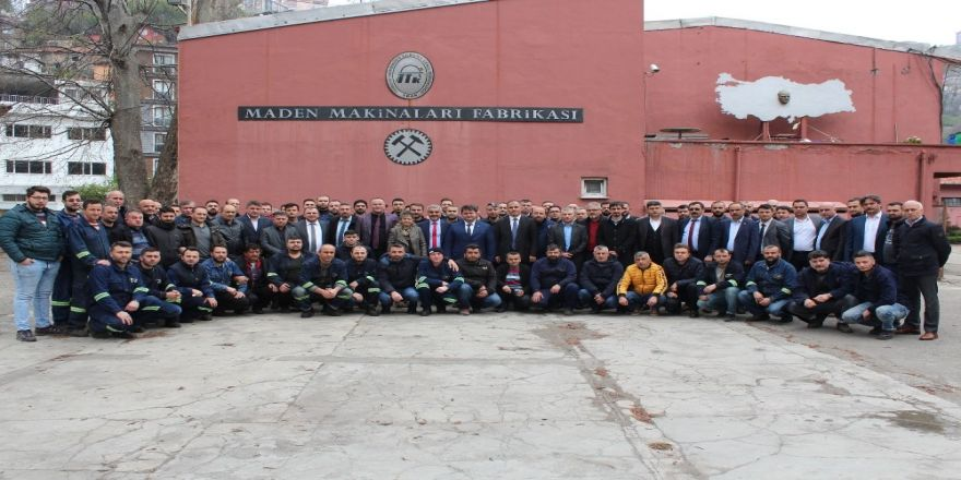 Gmis Yönetim Kurulu, Maden Makinaları Fabrikası'nı Ziyaret Etti