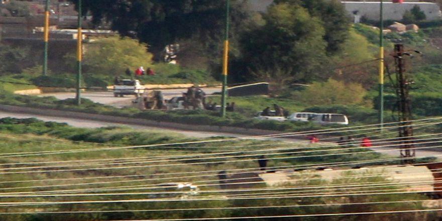 Kamışlı'da teröristlerin zırhlı aracı görüntülendi