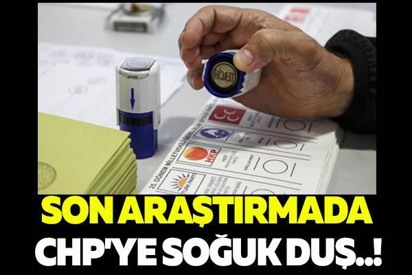 SON ARAŞTIRMADA CHP'YE SOĞUK DUŞ..!