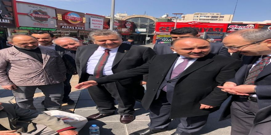 Vali Günaydın Ve Başkan Gülsoy'dan Çarşı Esnafı Ziyareti