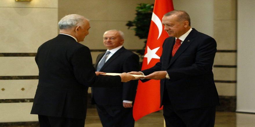 Erdoğan, Paraguay Büyükelçisini kabul etti