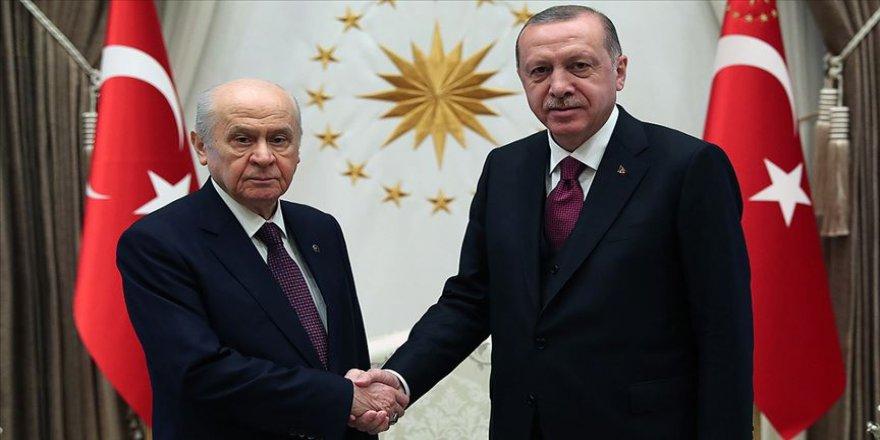 Erdoğan, Devlet Bahçeli'yi kabul etti