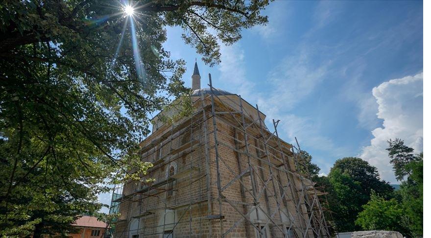 Vezirler Şehri'ndeki Alaca Cami yenilendi