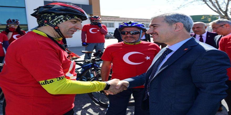 Yeşilyurt'ta 'Çanakkale Şehitleri Anma' Bisiklet Turu Düzenledi