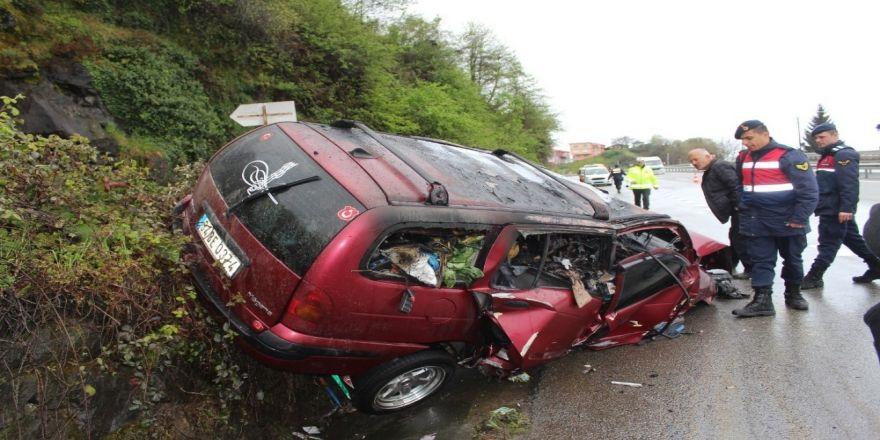 Giresun'da Trafik Kazası Sonrası Araç Alev Aldı: 1 Ölü, 1 Yaralı