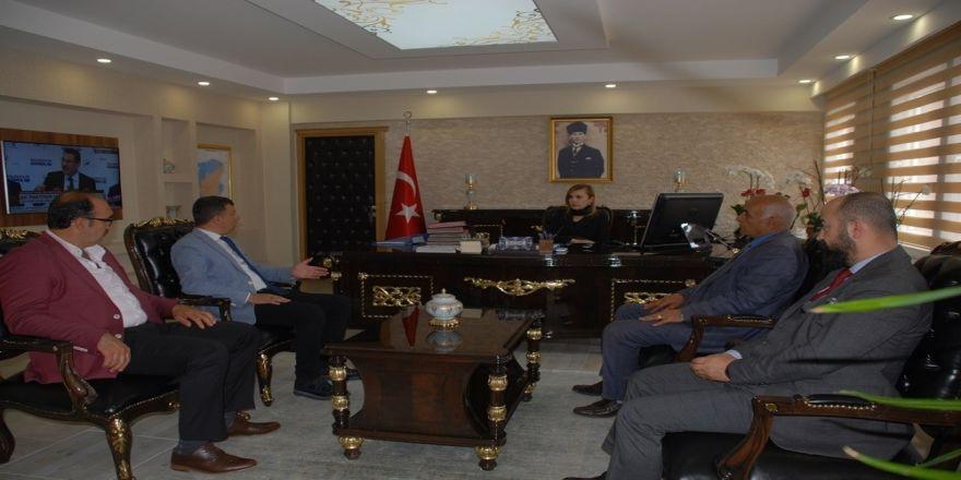 MHP heyetinden Kaymakam Uçar'a ziyaret