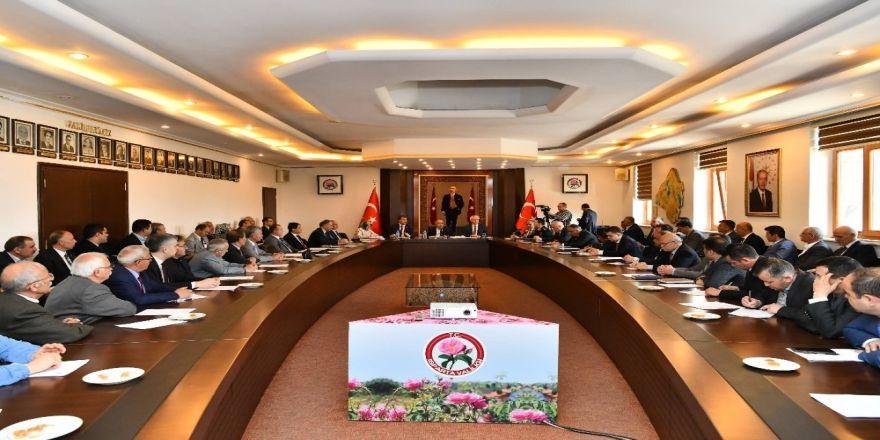 Isparta'da Seçim Sonrası İlk Muhtarlar Toplantısı