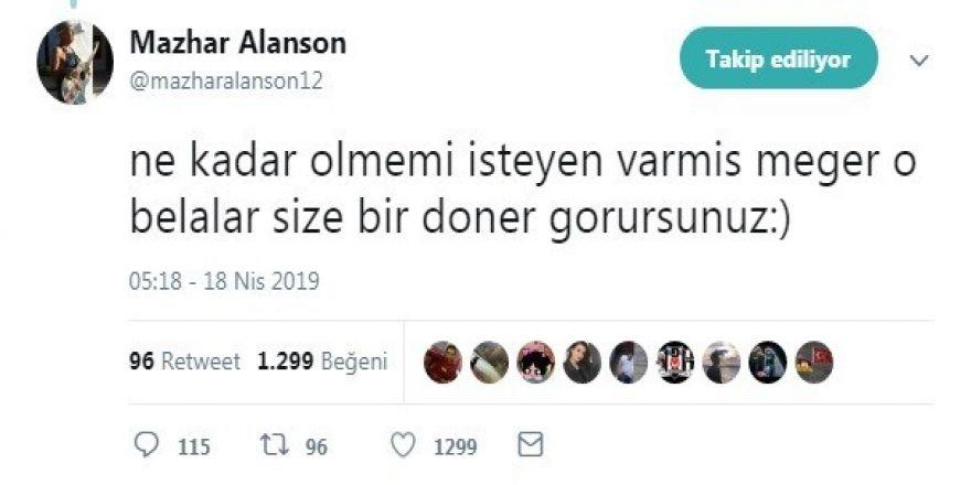 Alanson 'yoğun bakım' iddialarını yalanladı