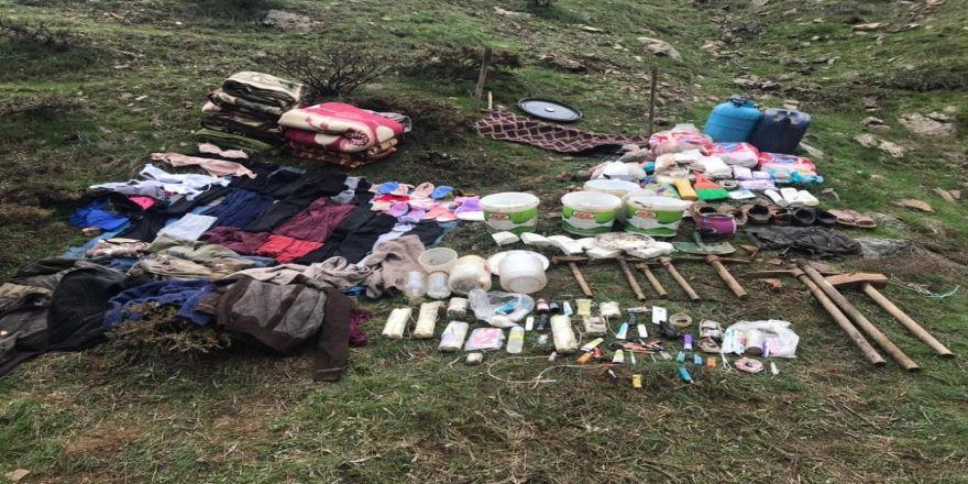 PKK'nın 4 odalı sığınağı imha edildi