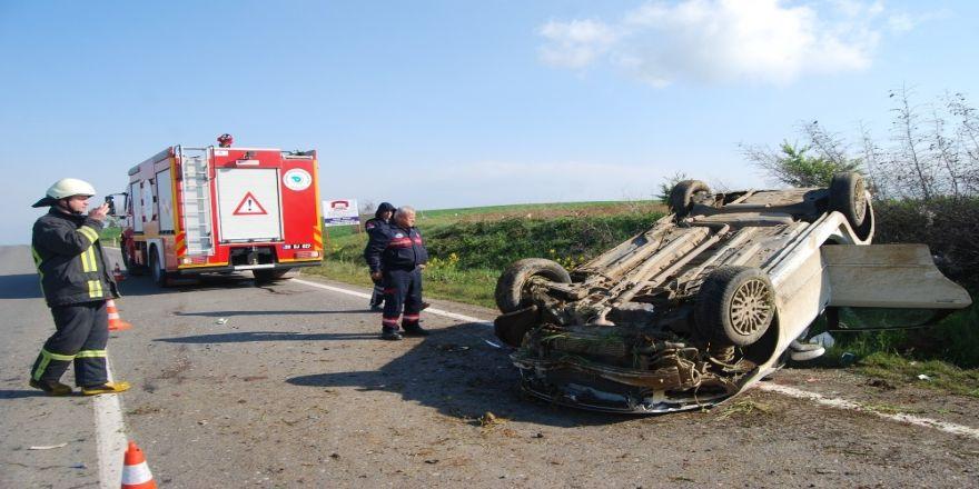 Çocuk sürücünün kullandığı otomobil takla attı: 1 ölü