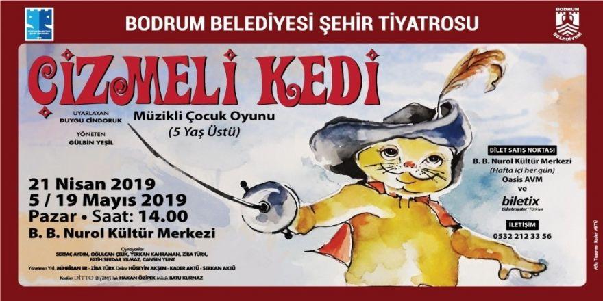 """""""Çizmeli Kedi"""" Çocuk Tiyatrosu Nurol Kültür Merkezi'nde"""