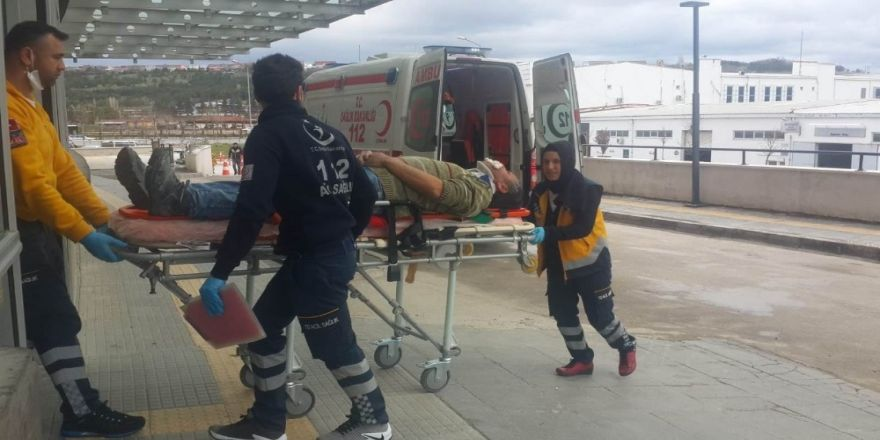 Üzerine Mermer Düşen İşçi Yaralandı